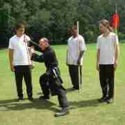 Craig Kiessling teaching Northern Shaolin Kung Fu weapons
