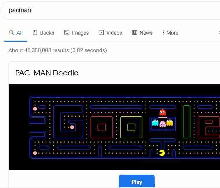 Google Search Tricks: Pacman