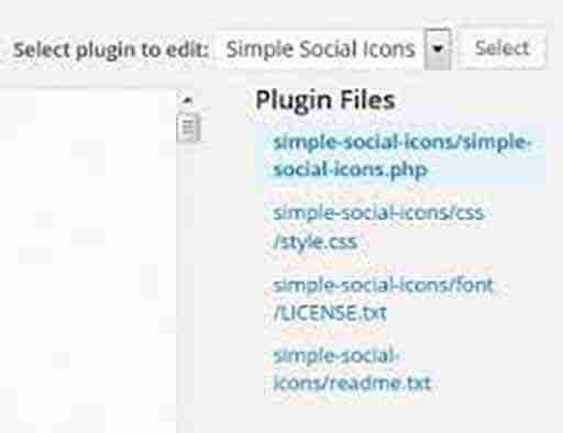 Simple Social Icons Plugin Editor