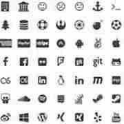 Simple Social Icons Fontello