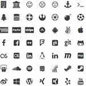 Simple Social Icons Fontello