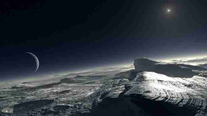 Pluto in Space